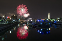 Fireworks from Old Port (The Montreal Buzz) Tags: fireworks montreal clocktower oldport evablue