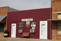 Roaring Springs, Texas: City Hall (Trudy -) Tags: town texas cityhall small roaringsprings motleycounty