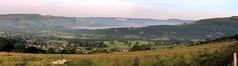 Hope Valley stitch.. (Mike-Lee) Tags: morning autostitch cloud mist sunshine fog ride stitch derbyshire peakdistrict sheffield hills castleton hopevalley onmywayhomefromwork june2014 nearlycloudinversion
