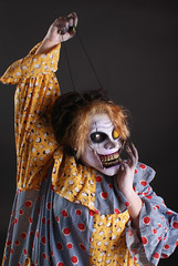 20140521_Savini_Annance_DSC00495 (Douglas Education Center) Tags: clown savini onepiecemakeup laceyannance