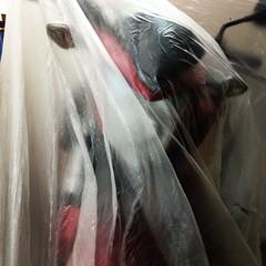 ผ้าคลุมรถ จากร้านทุกอย่าง 20 บาท บางมากกกก แต่คลุมแล้ว มองเห็นรถ #cb500f