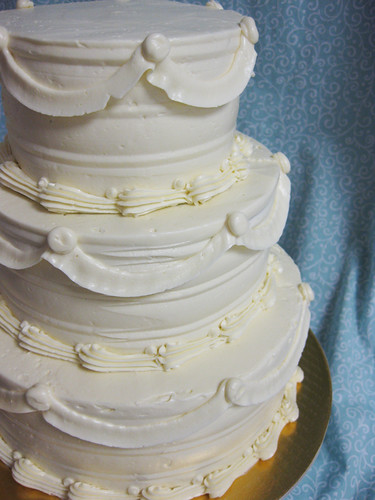 Buttercream Swags Wedding Cake