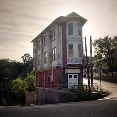 (deatonstreet) Tags: ohio building 120 film architecture apartment kodak cincinnati historic 100 automat flexaret ektar abanoned