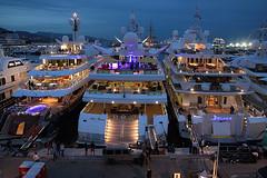 Monaco : Port Hercule (Maillekeule) Tags: port boat yacht nirvana indian empress hercule delma superyacht