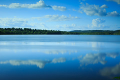 Rockland Lake State Park (Jemlnlx) Tags: park county new york blue lake 3 reflection water canon lens landscape eos state mark iii scenic 5d usm polarizer f28 ef circular graduated density hoya rockland neutral ultrasonic 2470mm ndx400