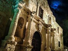 The Alamo (M$ingh.) Tags: nightphotography travel usa moon building apple architecture sanantonio clouds texas alamo iphonephotography thealamosanantonio thechallengefactory historicalhistoric iphone4s