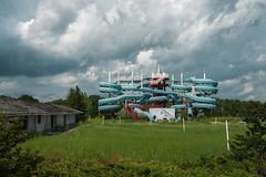 Skinner's Wet N Wild (bryanscott) Tags: architecture building clouds lockport manitoba waterslide winnipeg canada sitm2bs sitm2bk