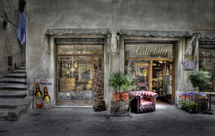 One of my favourite shops! (janetmeehan) Tags: street italy color shop canon italia streetphotography streetscene tuscany hdr cortona antiqueshop candidphotography