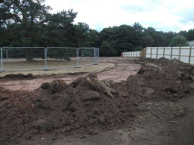 10/08/14 - A look behind the construction fence.