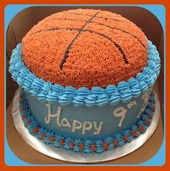 Basketball cake, Triad Area, NC, www.birthdaycakes4free.com