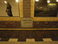 U-Bahn 1 (Berliner U-Bahn) Tags: berlin germany underground deutschland headstone bahnhof ubahn bvg grundstein untergrundbahn berlinerubahn