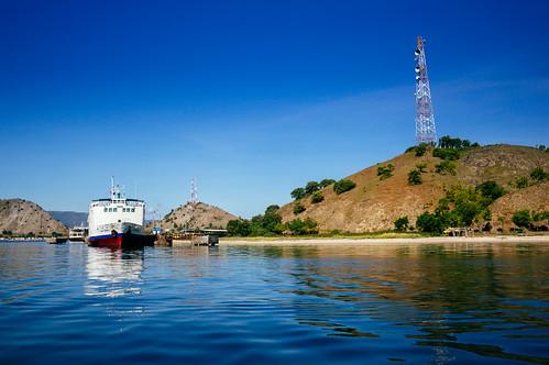 A Ferry at Poto Tano Port, Sumbawa