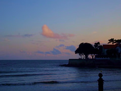 (Lou Darracq) Tags: ocean houses sunset sky mer lighthouse st clouds de soleil maisons coucher maritime palais nuages phare bord charente littoral