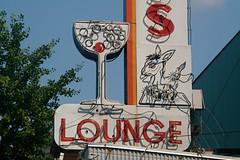 Martini and an Ass (El Busta) Tags: ass sign vintage neon kentucky ky cincinnati lounge donkey martini liquor newport booze brass