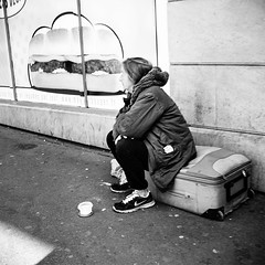 not everyone is in a hurry... (mouzhik) Tags: poverty street bw paris canon strada noiretblanc streetphotography rua misery rue parijs pars povert pobreza zemzem pauvret  photoderue muzhik pary mujik armut parys  miseria nohurry ulica caille   misre pariisi strase bieda   photographiederue  parizo moujik  fotografiadistrada fotoderua  strasenfotografie  mouzhik       pars manger5fruitsetlgumesparjour y  prizs y noteveryoneisinahurry mangez5fruitsetlgumesparjour niedostatek