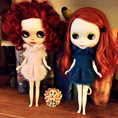 My redheads. Portia is such a sad girl and India needs some custom work.  Perhaps she'll be my next project.
