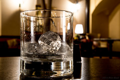 Just another lucky day (OR_U) Tags: vienna ice glass closeup bar bokeh icecubes oru emptyglass hotelbar 2014