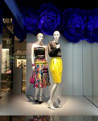 Blue Roses (Viridia) Tags: nyc newyorkcity flowers blue urban newyork mannequin fashion spring mannequins dress manhattan nightshoot windowdisplay dior windowdisplays newyorkcityny diorwindows diorwindowdisplays