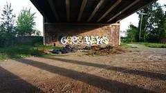 Gage, Heks (NJphotograffer) Tags: new bridge graffiti nj jersey graff gage trenton heks rt1