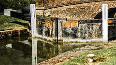 locked reflections PX (HHH Honey) Tags: landscape canal lock cosina wiltshire vivitar summersend lockgates textured onone kennetandavoncanal vivitar1935mmlens sonya850 perfecteffects8 crackedearthpx