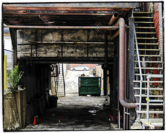 Gave Away The Secrets Of Your Past (swanksalot) Tags: chicago dumpster alley stair decay westloop fultonmarket