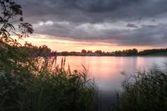 Rietplas (Rene Mensen) Tags: sunset sky lake water cloudy drenthe emmen nkon rietplas d5100