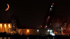 AUG_1430 (7) (Roy Curtis, Cornwall) Tags: uk moon night docks cornwall falmouth