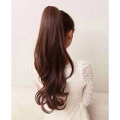 S exy ponytail พร้อมส่งW054 ราคา380บาท หางม้าแบบผูก วิกผมยาวดัดลอนสวยสีน้ำตาล  โทรสั่งของกับ พี่โน๊ต/พี่เจี๊ยบ : 083-1797221, 086-3320788, 02-9394933 | LINE User ID : lotusnoss.com และ website : lotusnoss.com #หางม้า #วิก ผมยาวดัดลอน #สีน้ำตาล