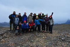 "13 - ""Wild Hotels"" : Danish TV filming at Ecocamp (Cascada Expediciones) Tags: people travel chile patagonia torresdelpaine ecocamp team trip trekking trek cold groupshot"