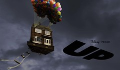 Up! (Hatto26) Tags: storm up photoshop fun fly experimental image balloon experiment stormy elements parody spoof float raise