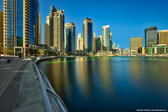 The long exposure reflection (Miroslav Petrasko (hdrshooter.com)) Tags: water marina long exposure dubai skyscrapers united uae emirates arab nd hoya photoengine oloneo