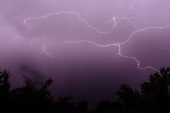 Lightning (jpstanley) Tags: trees sky silhouette night clouds thunderstorm lightning