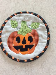 Mug rug (Karen@Laughter in Quilts) Tags: halloween applique mugrug