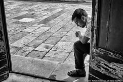 """""""reflections"""" (michelevolonnino) Tags: chiesa uomo pensieri parole ragazzo solitudine povero elemosina pensieroso"""