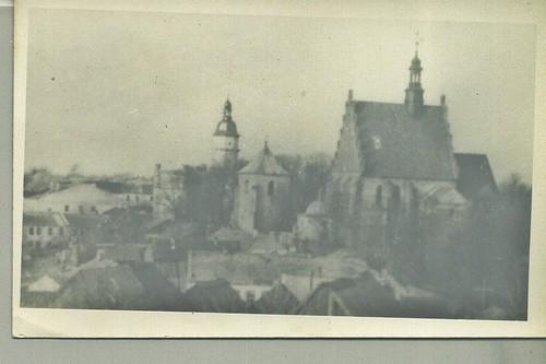 Ratusz i Kościół, widok z Góry Trzech Krzyży