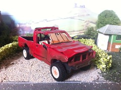 The Indestructible Toyota (HrExplorer) Tags: red cars up car truck oxford toyota pick diecast the hilux indestructible