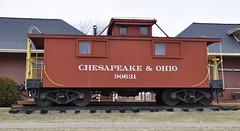 South Lyon, Michigan (1 of 8) (Bob McGilvray Jr.) Tags: southlyon michigan caboose wood wooden red cupola co chesapeakeohio railroad train tracks display public museum depot
