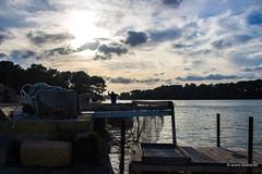 Pescatore ai laghi Alimini (blaise3d) Tags: salento laghi alimini baia dei turchi lecce costa adriatica puglia apulia sunset tramonto saline pescatori fisherman cielo nuvoloso sky clouds reflection work tradition