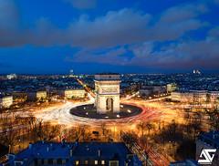 Place de l'Etoile (A.G. Photographe) Tags: anto antoxiii xiii ag agphotographe paris parisien parisian france french français europe capitale arcdetriomphe placedelétoile d810 nikon nikkor 2470 bluehour heurebleue sacrécoeur montmartre