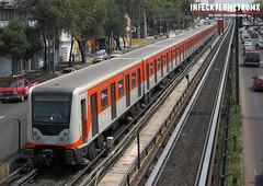 CAF Bombardier NM-02 Chabacano-Viaducto L-2 (infecktedmetromx) Tags: nm02 bombardier caf l2 metro mexico stc df cdmx bombardiertransportation subway stcmetro metrodelaciudaddemexico rubbertyredmetro ciudaddemexico cddemexico