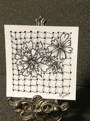 Flowerly and Friends Zentangle (joyfulstamper) Tags: zentangle flowerly cadent eddyper tangle tile