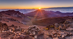 Haleakala Sunrise (PIERRE LECLERC PHOTO) Tags: haleakala nationalpark maui hawaii landscape sunrise morning altitude peak volcano summit lava cindercones lavarocks abovetheclouds adventure nature naturalwonders mountain pierreleclercphotography