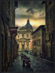 Rainy day in Siena. (odinvadim) Tags: mytravelgram paintfx textured textures iphone editmaster travel iphoneography sunset evening iphoneonly church painterly artist snapseed landscape photofx specialist iphoneart graphic painterlymobileart