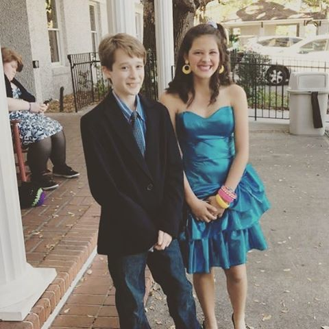 My son going to the DISCO-nekted Prom at Youth Councils! He's so grown up!