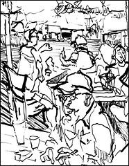 Bucket (Kerry Niemann) Tags: inkdrawing apachejunction hitchingpostsaloon