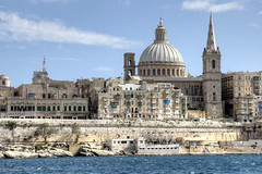 2013-03-25 Valletta from the ferry 2 (Pondspider) Tags: mediterranean malta valletta anneroberts annecattrell pondspider