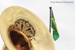 The band in the tuba (Paulo Rezende Photography) Tags: fab banda military band militar tuba sousaphone sousafone forcaaereabrasileira babr brazilianairforce fotopaulorezende