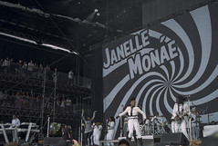 Bonnaroo 2014 // Janelle Monae (JeffWellerPhotography) Tags: music white black film festival america 35mm manchester photography tennessee live stage main band full negative swirl years 13 bonnaroo janelle roo 2014 musicfest monae jeffweller