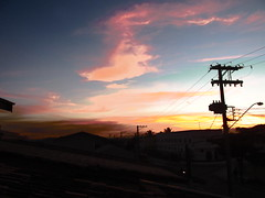 Por do Sol (Las ) Tags: winter sunset nature clouds canon sopaulo mothernature sunnyday pinda pindamonhangaba canonsx160is