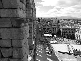 Segovia, España in b&w